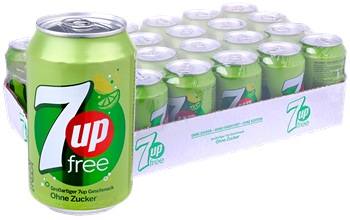 24-Pack 7up Free